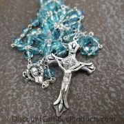 Aqua Dainty Rosary 5mm beads