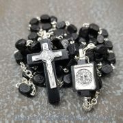 Saint Benedict Black Wood Rosary