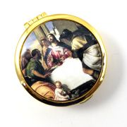 Size 2 Last Supper Gold Cast Pyx