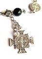 St Benedict Jubilee Medal Bracelet - Stone and Sterling Silver