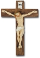 17 Inches Hand Painted Resin Italian Crucifix
