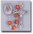 Genuine Rose Wood Oval Beads Rosary