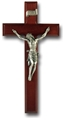 11 inch Dark Cherry and Pewter Crucifix