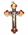 3.5 inch Metal Trinity Crucifix-Colored