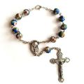 Light Blue Cloisonne Auto Rosary
