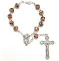 Pink Cloisonne Auto Rosary
