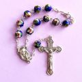 Royal Blue Cloisonne Auto Rosary