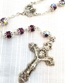 "Amethyst 24"" Double Capped Rosary"