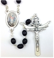 Saint Michael Wood Bead Rosary