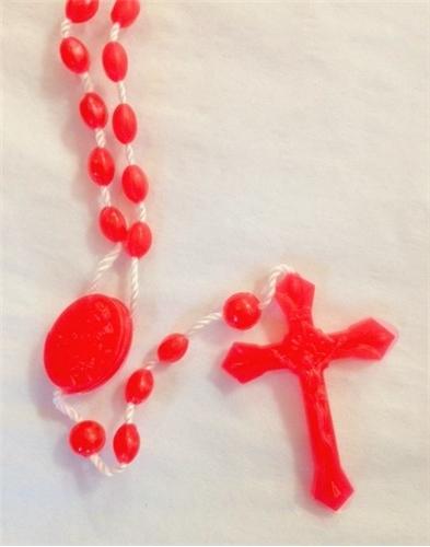 100 Red Cord Rosaries in Bulk