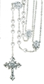 Pearl Lasso Wedding Rosary, Silver