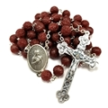 Rose Scented Rosary with Maroon Beads