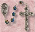 Cloisonne Blue Bead Rosary