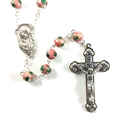Cloisonne Pink Bead Rosary
