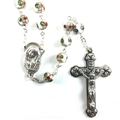 Cloisonne White Bead Rosary