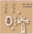 Our Lady of Guadalupe Stoneware Wall Rosary