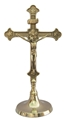 Brass Round Base Crucifix