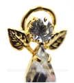 First Communion Crystal Angel Pin