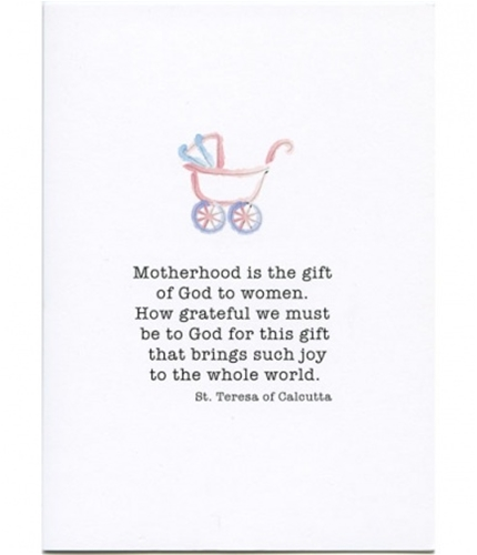 Motherhood Is A Gift Baby Shower Card