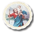 St. Christopher 3 Inches Auto Stickers