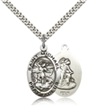St. Michael and Guardian Angel Oval Medal