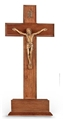 Standing Walnut and Museum Gold Salerni Crucifix