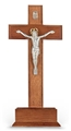 Standing Walnut and Silver Salerni Crucifix