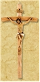 10 Inches Wood and Resin Crucifix