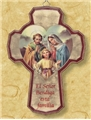 Spanish Holy Family Wooden Cross
