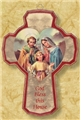 Holy Family Wooden Cross