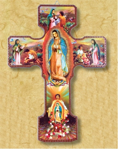 Our Lady Of Guadalupe Devotional Wooden Wall Cross