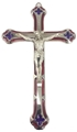 7 Inch Red enamel crucifix. Imported from Italy. Boxed