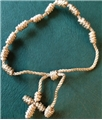 Beige Knotted Cord Rosary Bracelet