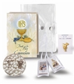 Tan Blessed Trinity First Communion Set