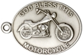 God Bless this Motorcycle Keychain