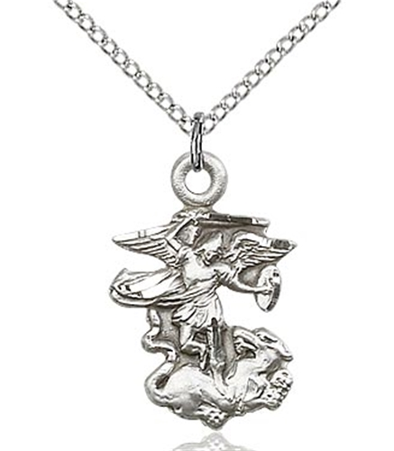St michael the archangel pendant gold or silver aloadofball Choice Image