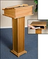 Pecan Lectern with Shelf