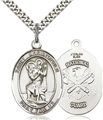 Oval National Guard St Christopher Medal