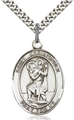 St Christopher Medal - 1 Inch Tall on Chain