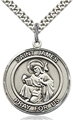 St James Round Sterling Silver Medal -.875 inch