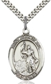 Joan of Arc Sterling Oval Medal - Engraveable