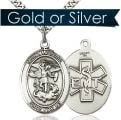 Saint Michael EMT Oval Medal on Chain