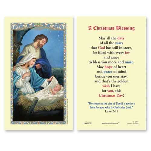 Christmas Blessing Prayer.A Christmas Blessing Prayer Card