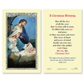 A Christmas Blessing Prayer Card