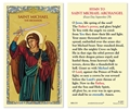 Hymn to Saint Michael Laminated Holy Card