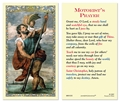 St Christopher- Motorists prayer Laminated Prayer Card