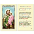 St Joseph Prayer Laminated Prayer Card