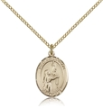 St Bernadette Gold Filled Medal