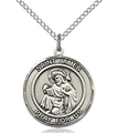 St James Round Sterling Silver Medal - .625 inch