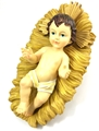 8 Inch Removable Infant Jesus with Crib - Resin